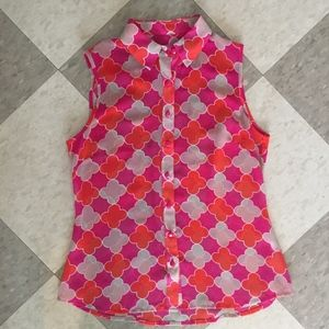 Banana Republic sheer geometric tank